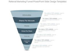 Referral Marketing Funnel Powerpoint Slide Design Templates