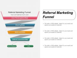 Referral Marketing Funnel Ppt Diagrams
