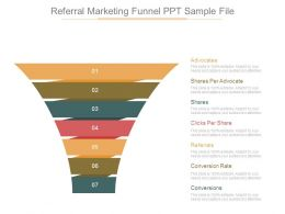 Referral Marketing Funnel Ppt Sample File