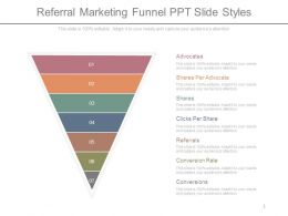 Referral Marketing Funnel Ppt Slide Styles