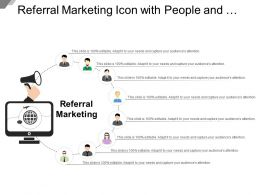 Referral Marketing Icon With People And Mega Phone