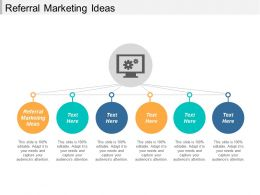 Referral Marketing Ideas Ppt Powerpoint Presentation Layouts Show Cpb