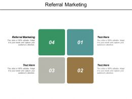 Referral Marketing Ppt Powerpoint Presentation Pictures Model Cpb