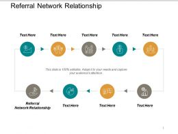 Referral Network Relationship Ppt Powerpoint Presentation Icon Brochure Cpb