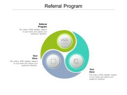 Referral Program Ppt Powerpoint Presentation Icon Inspiration Cpb