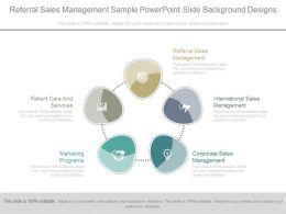 Referral Sales Management Sample Powerpoint Slide Background Designs