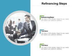 Refinancing Steps Ppt Powerpoint Presentation Infographics Show Cpb