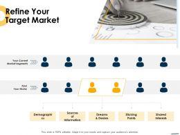 Refine Your Target Market Ppt Powerpoint Presentation Outline Introduction