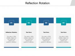 Reflection Rotation Ppt Powerpoint Presentation Portfolio Model Cpb