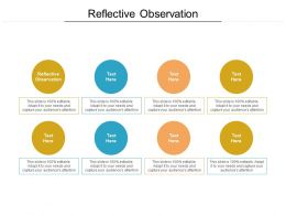 Reflective Observation Ppt Powerpoint Presentation Gallery Portrait Cpb
