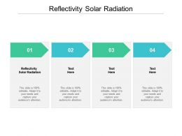 Reflectivity Solar Radiation Ppt Powerpoint Presentation Inspiration Infographic Template Cpb