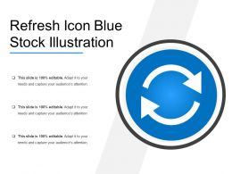 Refresh Icon Blue Stock Illustration