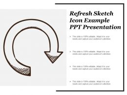 Refresh Sketch Icon Example Ppt Presentation
