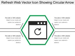 Refresh Web Vector Icon Showing Circular Arrow