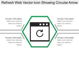 Refresh Web Vector Icon Showing Circular Arrow