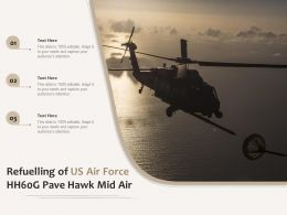 Refuelling Of US Air Force HH60G Pave Hawk Mid Air