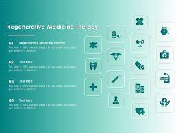 Regenerative Medicine Therapy Ppt Powerpoint Presentation Outline Portrait