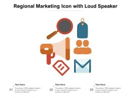 Regional Marketing Icon With Loud Speaker