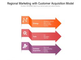 Regional Marketing With Customer Acquisition Model