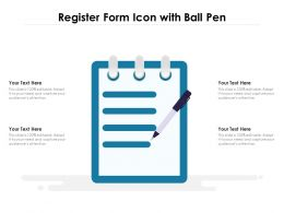Register Form Icon With Ball Pen