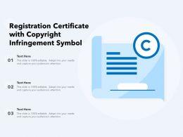Registration Certificate With Copyright Infringement Symbol
