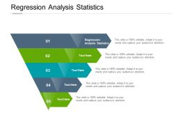 Regression Analysis Statistics Ppt Powerpoint Presentation Ideas Example Topics Cpb