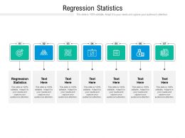 Regression Statistics Ppt Powerpoint Presentation Model Guide Cpb