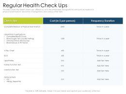 Regular Health Check Ups Blood Group Powerpoint Presentation Brochure
