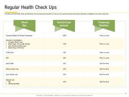 Regular Health Check Ups Physical Examination Ppt Powerpoint Clipart