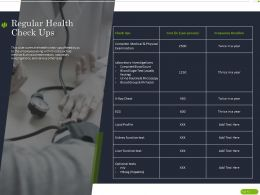 Regular Health Check Ups Ppt Powerpoint Presentation Layouts Icon