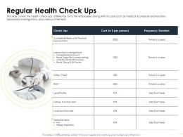 Regular Health Check Ups Urine Routine Ppt Powerpoint Presentation Infographic Template Visual Aids