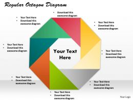 Regular Octagon Diagram Powerpoint Template Slide