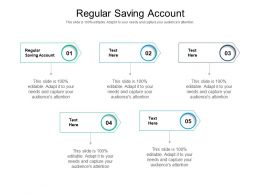 Regular Saving Account Ppt Powerpoint Presentation Show Good Cpb