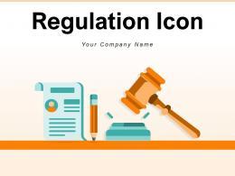 Regulation Icon Business Establishment Strategy Workplace Management