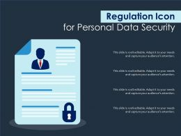 Regulation Icon For Personal Data Security
