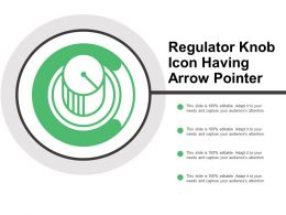 Regulator Knob Icon Having Arrow Pointer
