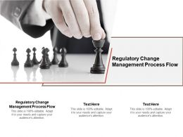 Regulatory Change Management Process Flow Ppt Powerpoint Presentation Model Cpb