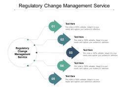 Regulatory Change Management Service Ppt Powerpoint Presentation Slides Format Cpb