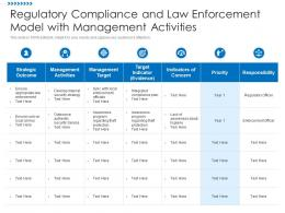 Regulatory Compliance And Law Enforcement Model With Management Activities