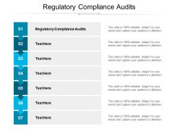 Regulatory Compliance Audits Ppt Powerpoint Presentation Outline Microsoft Cpb