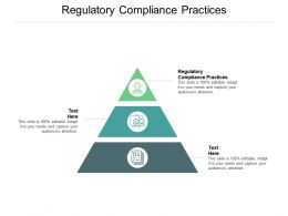 Regulatory Compliance Practices Ppt Powerpoint Presentation Styles Graphics Cpb
