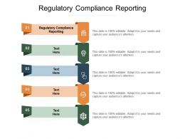 Regulatory Compliance Reporting Ppt Powerpoint Presentation Styles Slideshow Cpb