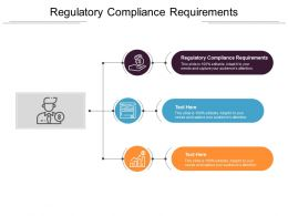 Regulatory Compliance Requirements Ppt Powerpoint Presentation Model Show Cpb