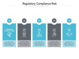 Regulatory Compliance Risk Ppt Powerpoint Presentation Portfolio Designs Cpb