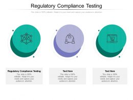 Regulatory Compliance Testing Ppt Powerpoint Presentation Gallery Ideas Cpb