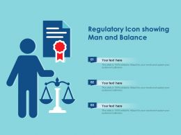 Regulatory Icon Showing Man And Balance