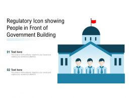 Regulatory Icon Showing People In Front Of Government Building