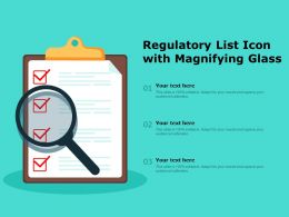 Regulatory List Icon With Magnifying Glass