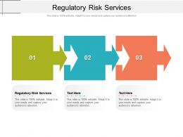 Regulatory Risk Services Ppt Powerpoint Presentation Ideas Example File Cpb