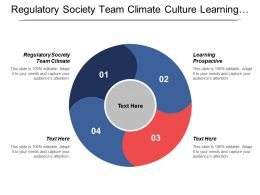 Regulatory Society Team Climate Culture Learning Prospective Shareholder Value